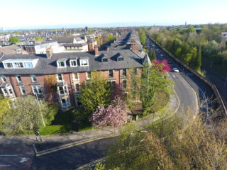 Apartment To Let Eslington Road in Jesmond Aerial Front