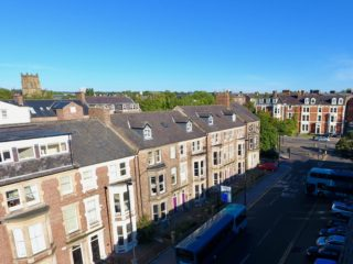 House To Let On Portland Terrace in Jesmond Aerial Front
