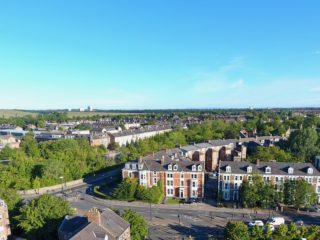 House To Let On Portland Terrace in Jesmond Aerial View