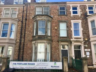 House To Let On Portland Terrace in Jesmond Front View